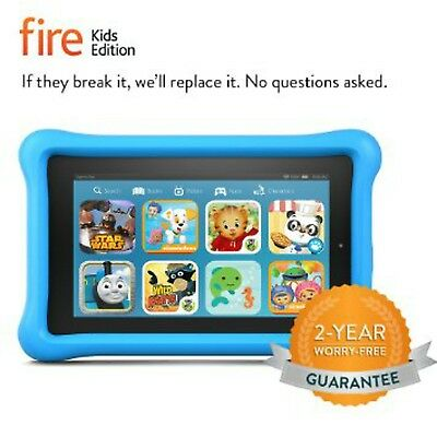 Amazon Kindle Fire 7 Blue Kid Proof Children Edition Tablet 16 Gb   2017 Release