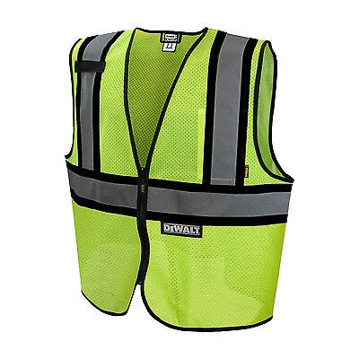 Dewalt Dsv221 Contrasting Trim Class 2 Safety Vest Ansi Isea 107 Hi Vis