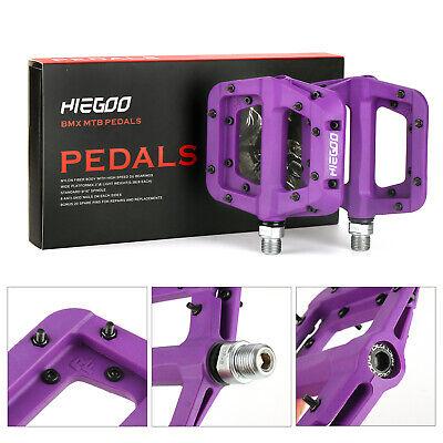 "Bike Pedals Bicycle Bearing Wide Nylon Pedals MTB BMX 9//16/"" ~ Blue ~ HIEGOO"