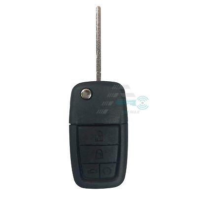 Black Key Fob Case (FIT Pontiac G8 08-09 4+1 Buttons Panic Remote Fold Flip Key Fob Case Shell)