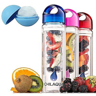 A Fruit Infused Water Bottle Silicone Ice Ball Maker Best