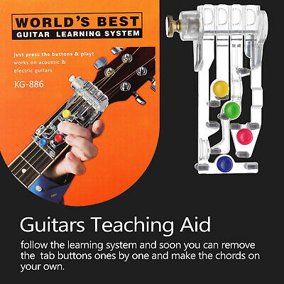 Guitar Learning System Teaching Practice Aid Chord ABS Teaching Aid Tool D1W2