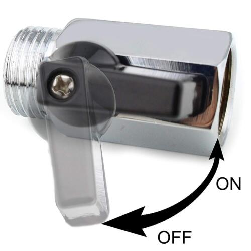 "G1/2"" Shower Head Flow Control Shut Off Valve Brass Saving Water w/ ABS Handle"