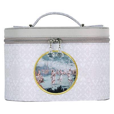 Mathilde M Large Rigid Vanity Case Bag Storage Taupe & Grey Chic Iles Marquises