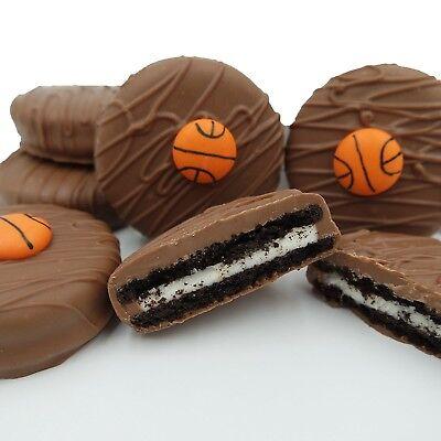 Philadelphia Candies Milk Chocolate Covered OREO® Cookies, Basketball Gift 8 Oz (Basketball Chocolates)