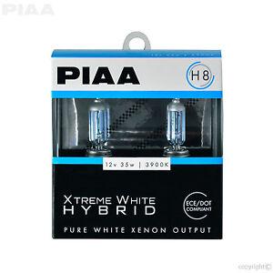 PIAA H8 XTREME WHITE HYBRID HALOGEN BULBS TWIN PACK 23-10108