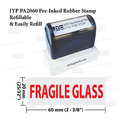 Jyp Pa 2060 Pre-inked Rubber Stamp Stamp Text  Fragile Glass