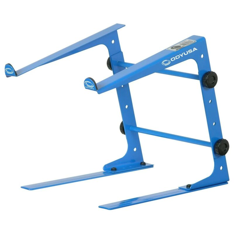 Odyssey LSTANDSBLU, DJ Table Top Laptop Stand - Blue
