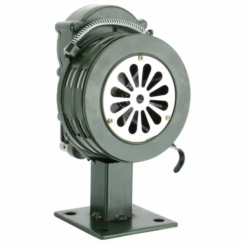 Homend Air Raid Siren Manual Crank Horn 110dB Base Mount Home Self Protection