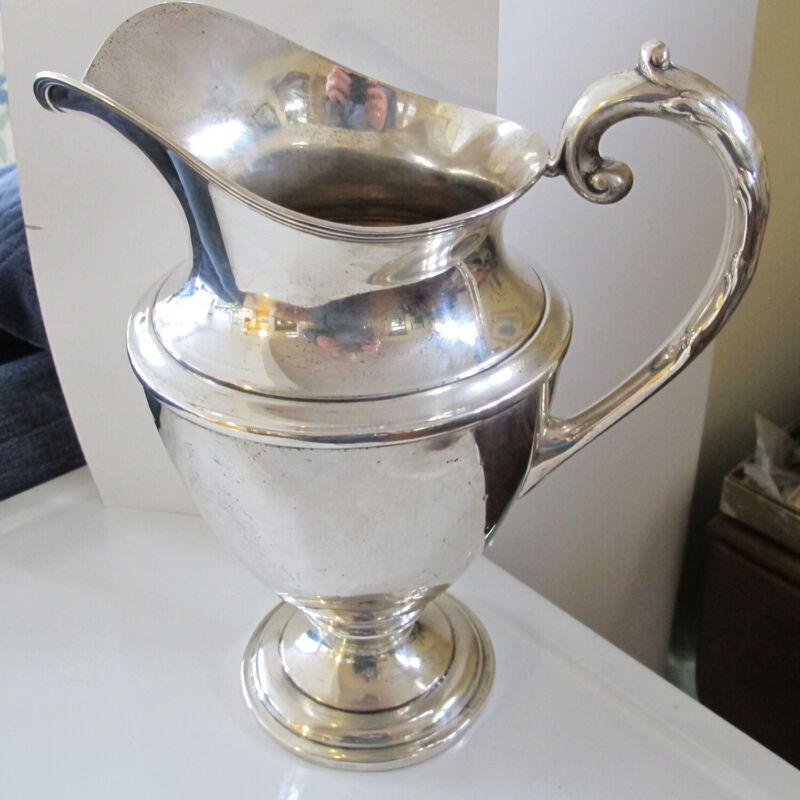 Large STERLING SILVER Handled PITCHER - Classic Style