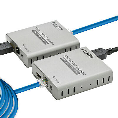 4k HDMI 2.0 Extender Over  Ethernet Single Cat 5E/6 Ethernet Cables 200 Feet for sale  Shipping to India