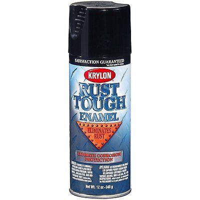 Krylon RTA9202 Rust Tough Gloss Black Rust Prevent Spray Paint Aerosol -