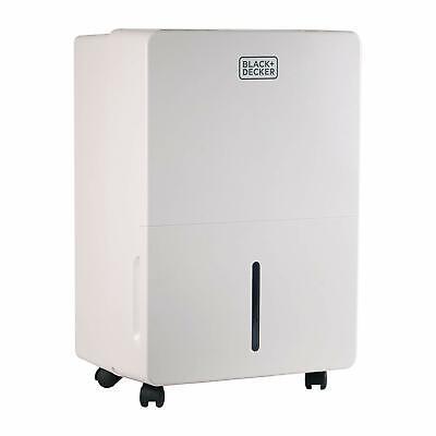 BLACK+DECKER  70-Pint Portable Dehumidifier w/ Adjustable Thermostat BDT70WT
