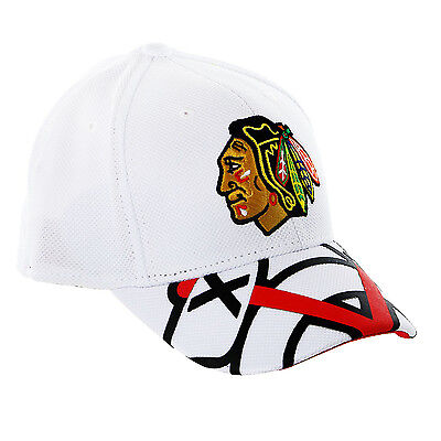 (Chicago Blackhawks White 2016 Draft Take Down Cap Reebok NHL Official Fitted Hat)