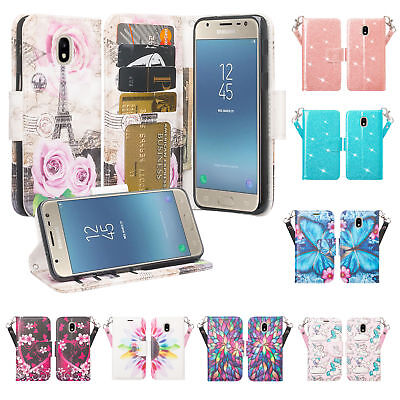 Samsung Galaxy J3 2018/J3 Star/J3 Achieve/Express Prime 3 Girl Wallet Phone Case