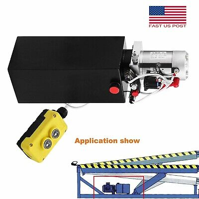 8.5 Quart Dc12v Double Acting Hydraulic Pump Power Unit Supply For Dump Truck Us