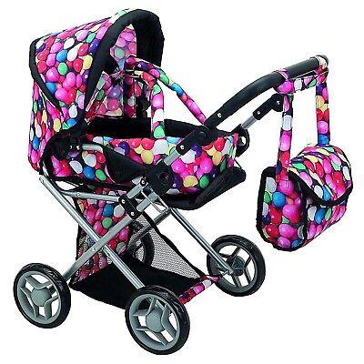 Xmas Gift Baby Doll Stroller Pram Toy For Girl Kid Pretend Play Life Like Mommy  - Pram Doll Stroller