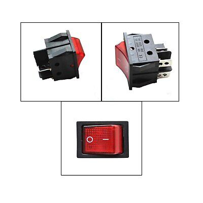 Red Button On-off 4 Pin Dpst Boat Rocker Switch For 16a 250v 20a 125v Ac Voltage