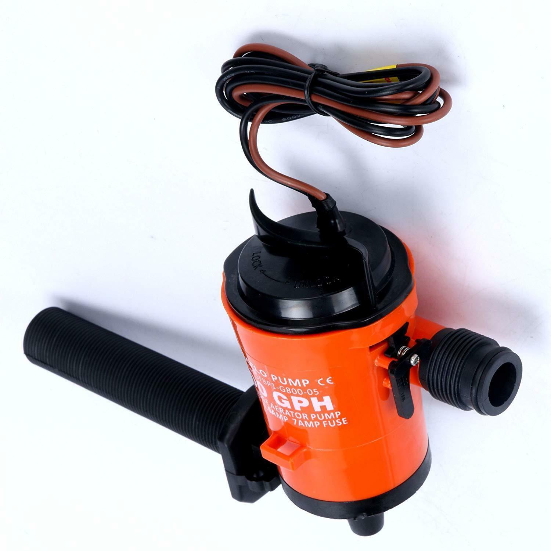 Livewell Bait Tank Aerator Submersible Boat Bilge Pump 12v 800gph Best Quality
