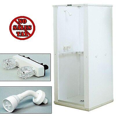 Shower Enclosure Bathroom Shower Stall Kit Standing Bath White Panel 32x32x75 1d