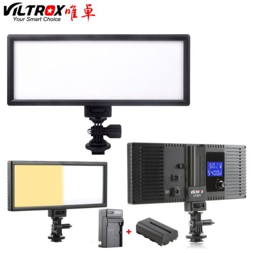 Viltrox 132 LED Thin LCD Bi-Color Dimmable Studio Video Ligh