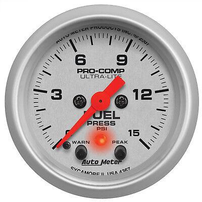 Autometer 4367 Ultra-Lite Fuel pressure Gauge 2-1/16 in., Electrical