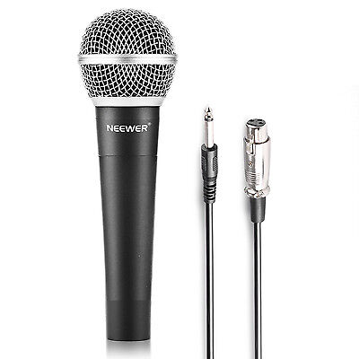 Neewer Zinc Alloy Black Professional Moving Coil Handheld Dynamic Microphone