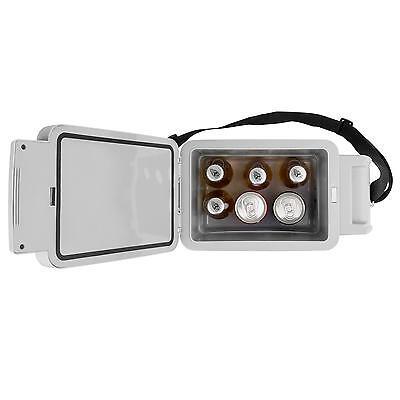 Mini mobile elektrische Thermo Kühlbox 12V Adapter Auto Camping Box 6 Liter blau