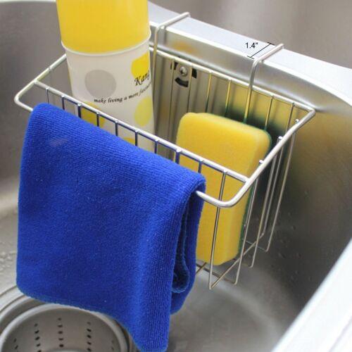 Kitchen Sponge Holder Sink Caddy Brush Soap Drainer Rack