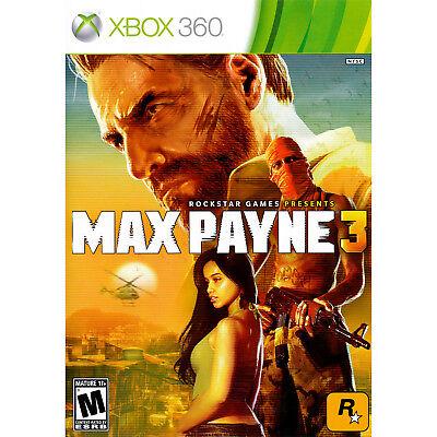 Max Payne 3 Xbox 360 [Brand New]