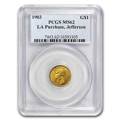 1903 Gold $1.00 Louisiana Purchase Jefferson MS-62 PCGS - SKU#72049