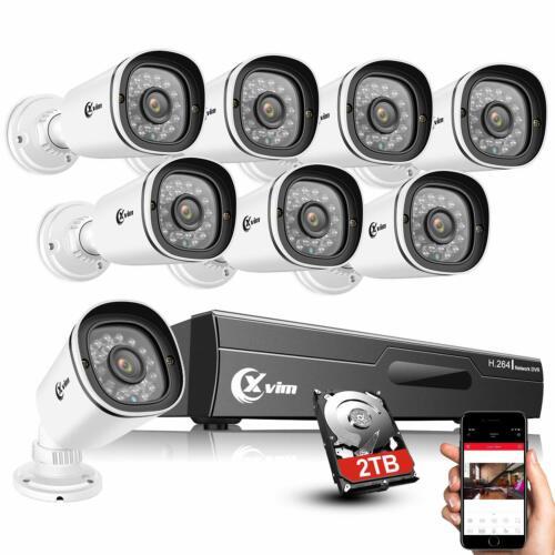 XVIM 8CH 1080P Outdoor Security Camera System Home Surveillance CCTV DVR w/ HDD