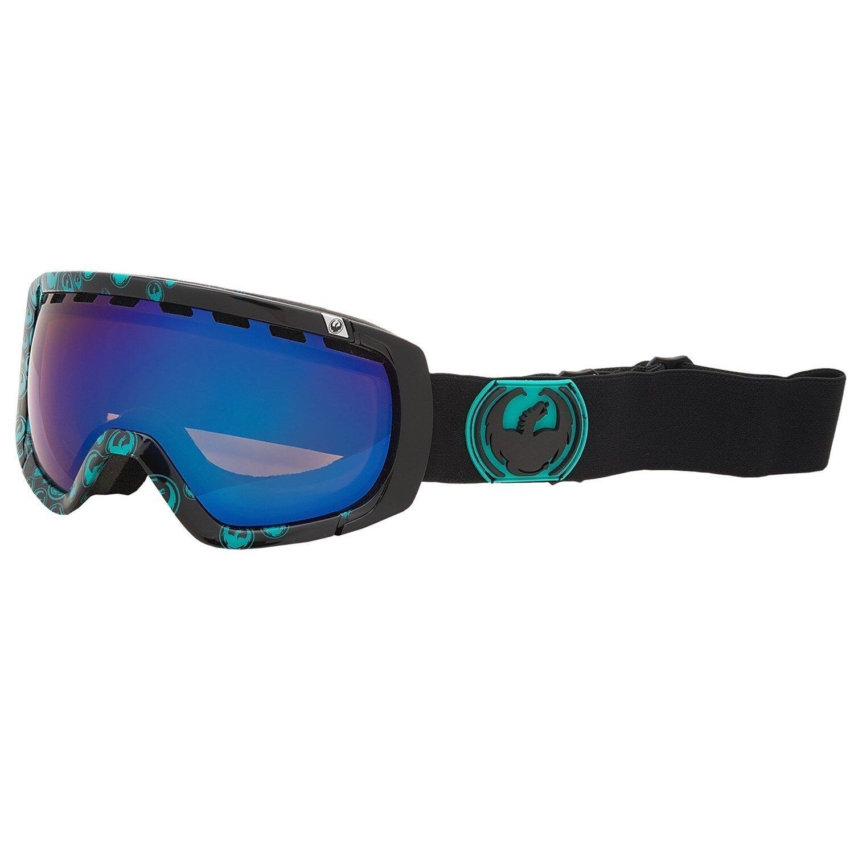 Dragon Rogue Goggles Winter Ski Snow Goggles Ionized Lens Black Teal Icon/Blue Steel