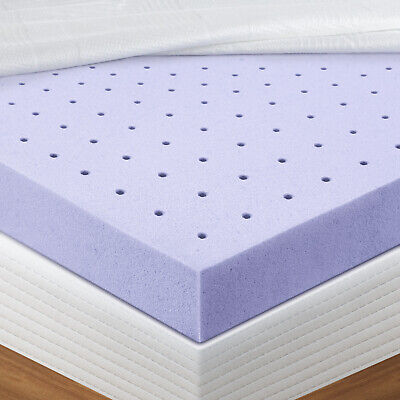 Mattress Topper Memory Foam  Lavender CertiPUR-US Certified