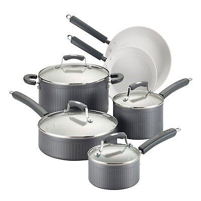 Paula Deen Savannah Collection Hard Anodized Nonstick 10 Piece Cookware Set