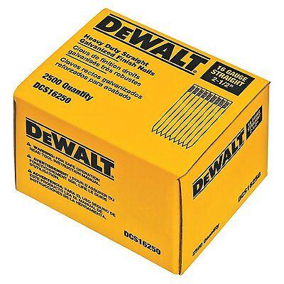 Dewalt 2-12-inch By 16 Gauge Straight Finish Nail 2500 Per Box Dcs16250