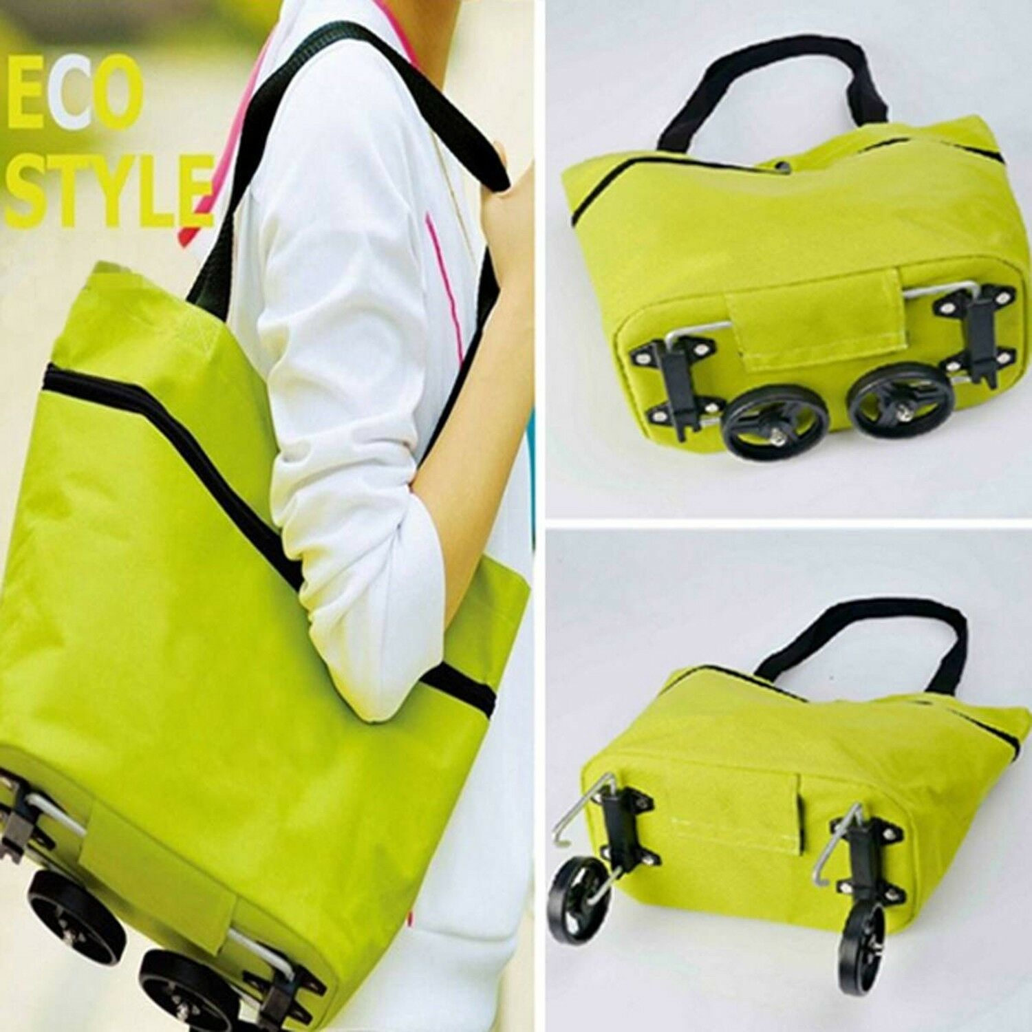 Nursing Bags On Wheels >> Details About Portable Travel Oxford Foldable Shopping Trolley Bag Wheels Nursing Tote Space