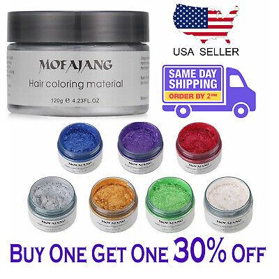 Mofajang  Unisex DIY Hair Color Wax Mud Dye Cream Temporary Modeling 8 Colors ()