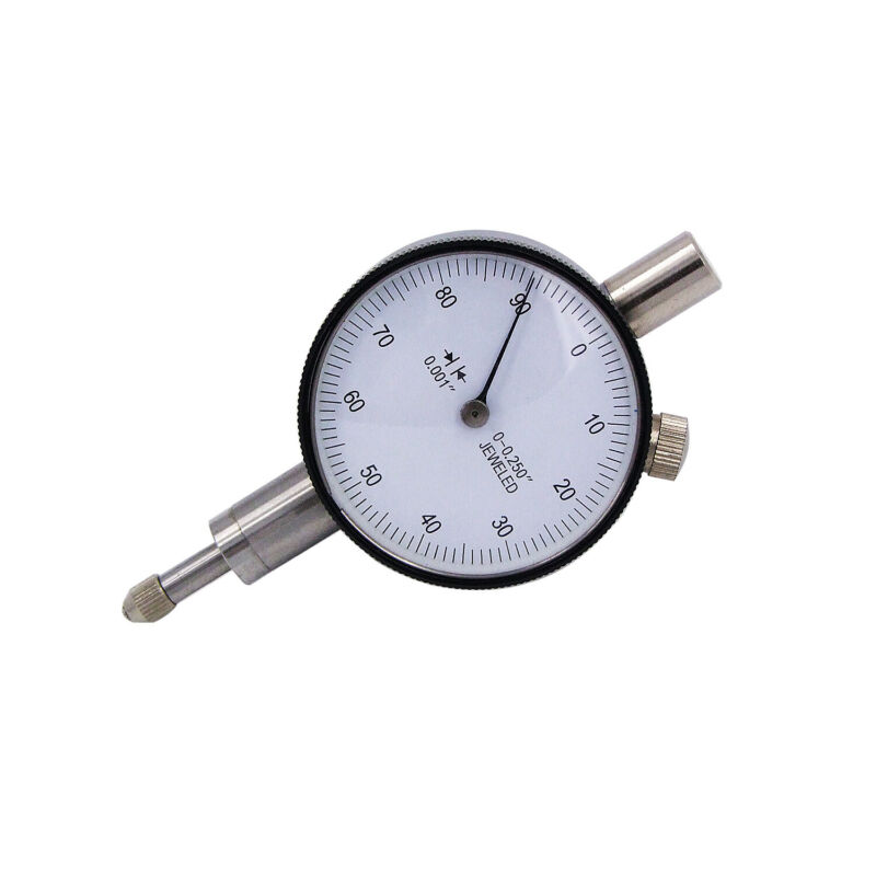 """HFS(R) 1/4"""" x 0.001"""" Miniature Inch Dial Indicators with Lug Back & White Face"""