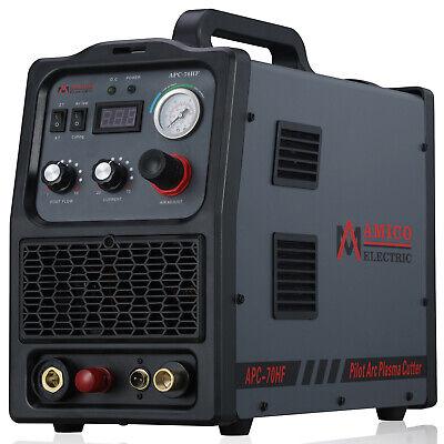 Apc-70hf 70 Amp Pilot Arc Plasma Cutter 100-250v Wide Voltage 80 Duty Cycle