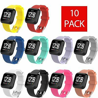 10-Pack Silicone Rubber Classic Band Strap Wristband For Fitbit Versa Watch Jewelry & Watches