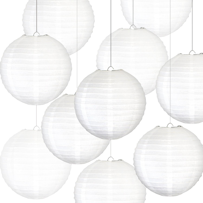 round wedding white paper lanterns decorations sky