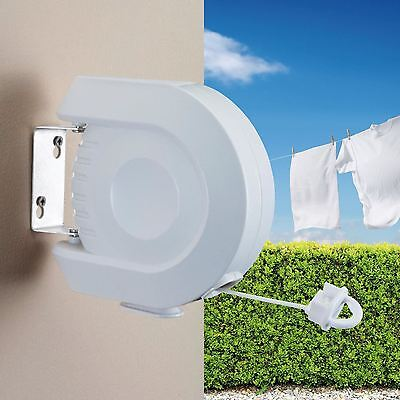 12m Indoor Outdoor Automatic Retractable Reel Clothes Washing Line