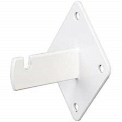 Gridwall Wall Mount Bracket - Grid Panel Mounting Brackets - White - 20 Pieces