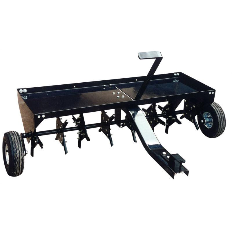 Yard Tuff 48 Inch Tow Behind Lawn Mower Tractor Plug Aerator w/ Universal Hitch