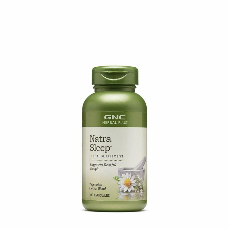 herbal plus natra sleep 100 capsules supports