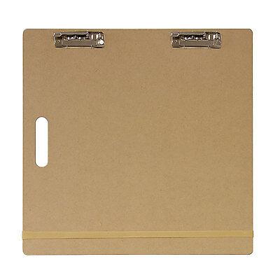 """US Art Supply® 18""""x18"""" Artist Field Sketch Tote Board Drawing Heavy-Duty Clip"""
