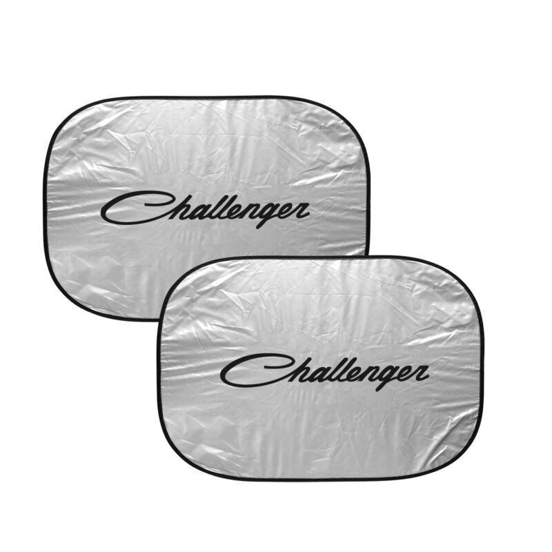 "Dodge Challenger Classic Logo Dual Panels 28"" x 24"" Folding Windshield Sun Shade"