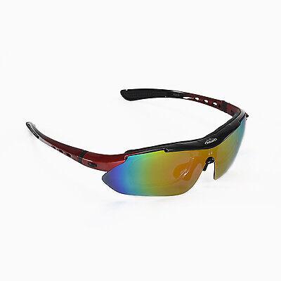 Walleva Red Polarized TR90 Sunglasses With Hat Clip+Prescription Lenses (Polarized Sunglasses With Prescription)