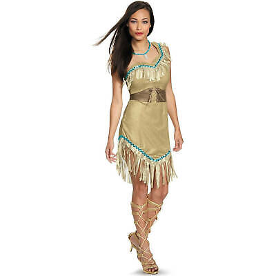 Disney Princess Deluxe Pocahontas Plus Size Halloween Costume For Women XL 18-20 - Plus Size Pocahontas Costume
